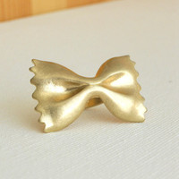 Golden Farfalle Ring [3189] - $8.55 : Vintage Inspired Clothing & Affordable Summer Dresses, deloom | Modern. Vintage. Crafted.