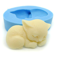 Sleeping Cat 26mm Bakery Flexible Push Mold 170m