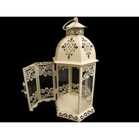 Intricate Cream Tea Light Lantern (standing)