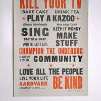 Kill Your TV Print | The Hambledon