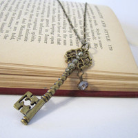Skeleton Key Necklace - Vintage Inspired by 636designs