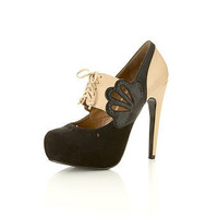 Sian Nude Two Tone Town Shoe - Shoes