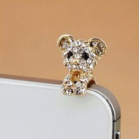 Cute Puppy Phone Jack Plug (Dust Plug) | LilyFair Jewelry