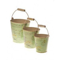 Set of 3 Lavender Design Buckets