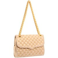 Rebecca Minkoff  Affair Light Gold Shoulder Bag - designer shoes, handbags, jewelry, watches, and fashion accessories | endless.com