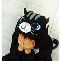 Cute Black Cat Kigurumi Pajama Costume Cat Fancy Dress Costumes [TQL120329023] - £29.59 : Zentai, Sexy Lingerie, Zentai Suit, Chemise