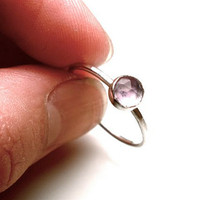 Pink Amethyst Stacking Ring in Your Size