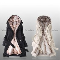 Discount China china wholesale Womens Warm Hooded Faux Fur Winter Long Zipper Jacket Coat [30003] - US$58.99 : Bluelans