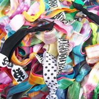20 Lucky Girl Hair Ties, Grab Bag Style- Labor Day SALE