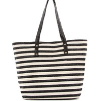 All Stripes Canvas Tote