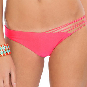 Luli Fama  Verano de Rumba Strappy Front Side Bikini Bottom