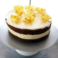 carrot-cheesecake with pineapple flowers | eat your vegetables