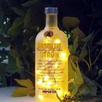 ABSOLUT CITRON Bottle Accent Bar/Table Lamp/Light-NICE-Great Gift Idea