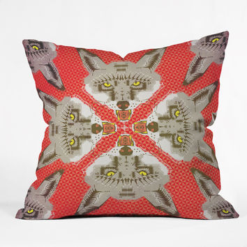 Chobopop Silver Fox Pattern Throw Pillow - Indoor /