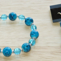 2 Piece Jewelry Set in Turquoise and Silver