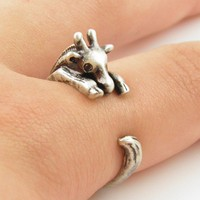 Silver Giraffe Wrap Ring