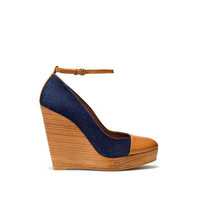 DENIM WEDGE HEEL SHOE - Wedges - Shoes - Collection - Woman - ZARA United States
