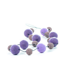 Lavender Summer Necklace Felted Beaded Jewelry