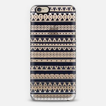 BLACK TRIBAL - CRYSTAL CLEAR PHONE CASE iPhone 6 case by Nika Martinez   Casetify