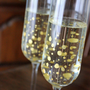 Hand-Painted Wedding Champagne Flutes: &quot;You Go to My Head&quot; Toasting Flute Set