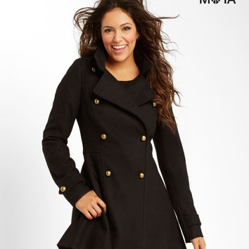 Aeropostale  Solid Hooded Coat - Black, X-Small