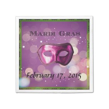 Mardi Gras Purple Mask Napkins