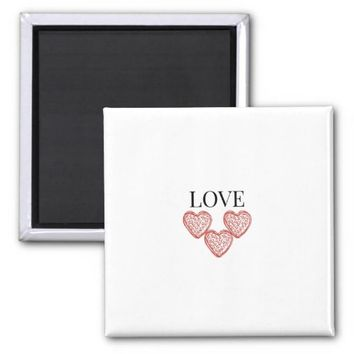 3 Hearts of Love Magnet