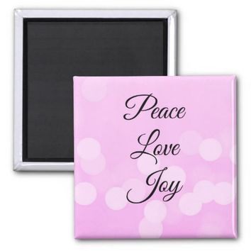 Peace, Love and Joy Magnet