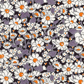 Liberty Tana Lawn Fabric - Liberty Japan - Cotton Print Fabric, Alice W - Gray Floral Scrap - Quilt, Patchwork, Quilting - NT15SS7