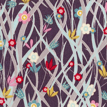 Liberty Tana Lawn Fabric - Liberty Japan - Cotton Print Fabric, Alice Patsy  - Colorful Floral Scrap - Quilt, Patchwork - NT15SS10