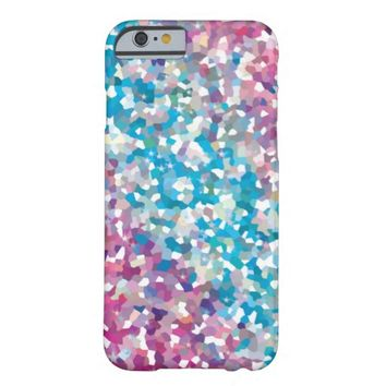 Blue and Purple Sparkly Winter Snow Abstract Art iphone 6 Case- Cute colorful iphone 6 cases, girly sparkly iphone 6 cases