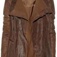 Rick Owens | Asymmetric leather jacket | NET-A-PORTER.COM