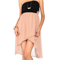 Layered Chiffon Backless Dress - 2020AVE