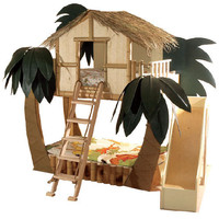 Tropical Surf Shack Bunk Bed : Luxury Playhouses at PoshTots