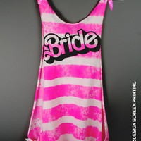 Bride Shirt - BARBIE Bride Scoop Neck Tank Top Romper - bridesmaid gift