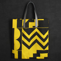 Darkroom Aztec Screen Printed Yellow Tote - Large - Darkroom - A concept store on London's Lamb's Conduit St