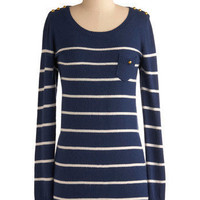 Weather or Yacht Dress | Mod Retro Vintage Sweaters | ModCloth.com