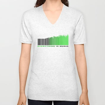 Music Everywhere Unisex V-Neck by EDrawings38