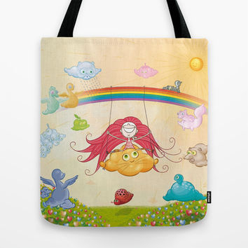 The paradise of fruits and clouds Tote Bag by elsitiodetico