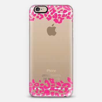 Wild Double Hot Pink Leopard Transparent iPhone 6 case by Organic Saturation | Casetify