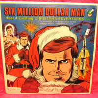 Amazing Peter Pan Record Six Million Dollar Man Christmas Adventure Album, 33  RPM, 1978 Vinyl Record LP 33 Sealed