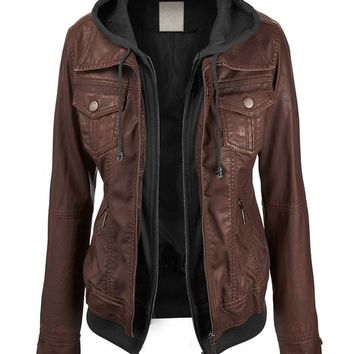 Womenx27s Faux leather Jacket