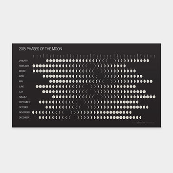 2015 Phases of the Moon Calendar | MoMA