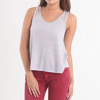 Lace Inset Shoulder Tank