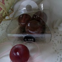 Three Plum Fruit Soaps £10.00