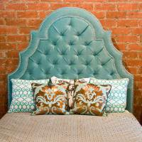 www.roomservicestore.com - Aqua Velvet Tufted Marrakesh Bed