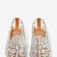 Jeffrey Campbell Elegant Jeweled Loafers - Silver