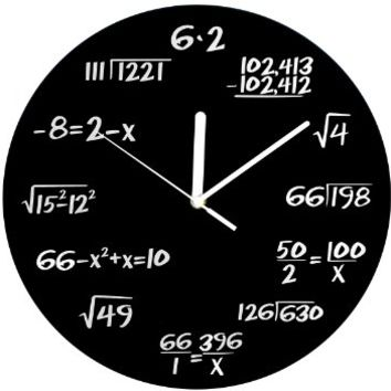 Decodyne Math Clock -Unique Wall Clock  Each Hour Marked
