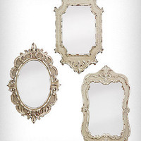 Antiqued Vintage Style Mirrors Set | PLASTICLAND