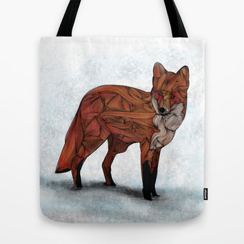 Red Fox Tote Bag by Ben Geiger